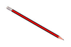 Red and black pencil isolated on white background. See my other works in portfolio Stock Image