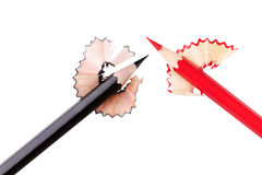 Red and black pencil Stock Images