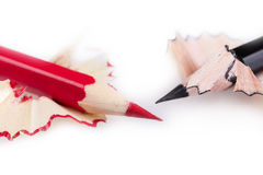 Red and black pencil Stock Photo
