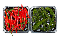 Red and black pepper Stock Images