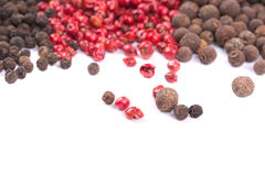 Red and black peppercorn. Royalty Free Stock Images