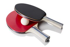 Red and Black Ping Pong Paddles Stock Images