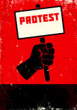 Illustration of protest Royalty Free Stock Photos