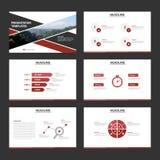 Red and Black presentation templates Infographic elements flat design set for brochure flyer leaflet marketing advertising Royalty Free Stock Image