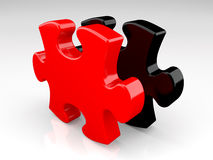 Red and black puzzle Royalty Free Stock Image