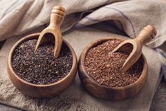 Red, black quinoa seeds Royalty Free Stock Image
