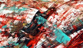 Red black red bright vivid painting backround, abstract painting watercolor background. Phosphorescent black brown red bright colors, abstract vivid background royalty free stock image