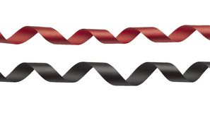 Red and black ribbon Stock Photography