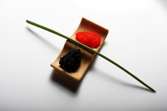 Red and black roe Royalty Free Stock Images