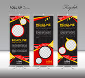 Red and black Roll Up Banner template vector illustration Royalty Free Stock Photo