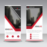 Red black roll up business brochure flyer banner design , cover presentation abstract geometric background, modern publication Royalty Free Stock Photo