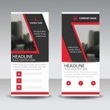 Red black roll up business brochure flyer banner design , cover presentation abstract geometric background, modern publication. X-banner and flag-banner vector illustration