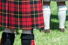 Red and Black Scottish Kilt Royalty Free Stock Photography