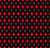 Red Black Seamless. A retro SEAMLESS pattern typical of the 1950s modern style Royalty Free Stock Photos