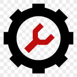 Red And black service tool pictogram. Vector style flat  symbol on square transparent background, eps file. Stock Images