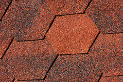 Red - black shingles textures Royalty Free Stock Photos