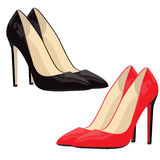 Red and black shoes Royalty Free Stock Photos