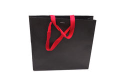 Red and black shopping bag Stock Images