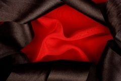 Red and Black Silk stock photography