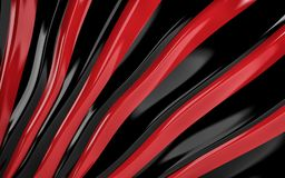 Red and black silk drapery and fabric background. 3d render. Ing Stock Images