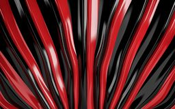 Red and black silk drapery and fabric background. 3d render. Ing Royalty Free Stock Photography