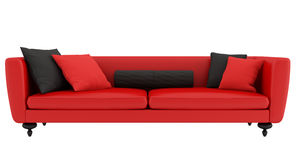 Red and black sofa Stock Photos
