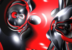 Red&black space (abstract) Stock Image