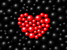 Red and black spheres background. 3d render Royalty Free Stock Photography