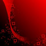 Red and black squares composition Royalty Free Stock Photo
