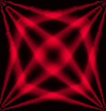 Red and black star effect light abstract background Stock Photos