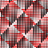 Red and Black Stripe Background. Seamless Plaid Pattern Stock Images