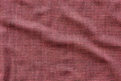 Red and black striped cotton texture Stock Photography