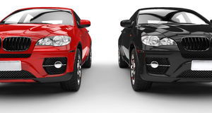 Red And Black SUV Royalty Free Stock Image