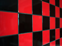 Red and black tile Royalty Free Stock Photos