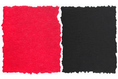 Red and black torn paper. On white royalty free stock images