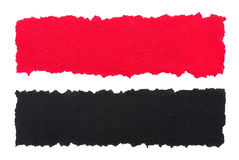 Red and black torn paper Stock Photos