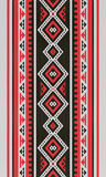 Red And Black Traditional Folk Sadu Arabian Hand Weaving Pattern Royalty Free Stock Photos