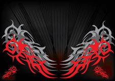 Red and black tribal- background Stock Photos