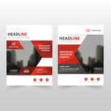 Red black Vector annual report Leaflet Brochure Flyer template design, book cover layout design, abstract business presentation. Template, a4 size design vector illustration