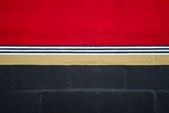 Red and black wall Royalty Free Stock Photo