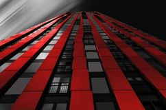 Red Black Wall Building Royalty Free Stock Photo