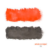 Red and black watercolor banner Stock Photos
