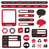 Red and black web objects Royalty Free Stock Image