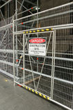 A red, black and white 'Danger - Construction Site' warning sign Royalty Free Stock Photography