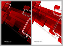 Red, black and white abstract background Stock Images