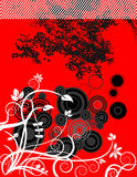 Red, Black & White Background royalty free illustration