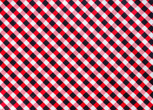 Red black white checked Royalty Free Stock Photos