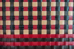 Plastic plaited basket weave pattern royalty free stock image