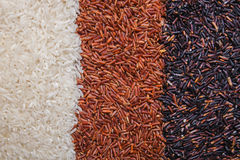 Red, black and white rice background. Or texture Royalty Free Stock Image
