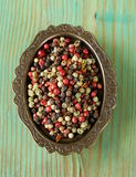 Red, black and and white spice pepper Royalty Free Stock Images
